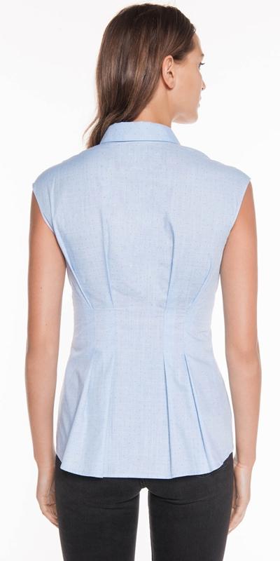 Shirts | Textured Pin Spot Laced Shirt
