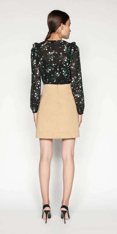Shirts | Daisy Georgette Keyhole Blouse