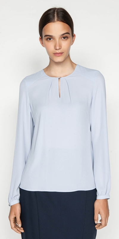 Sale  | Soft Georgette Keyhole Top