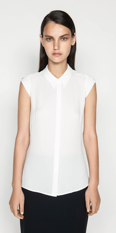 Shirts  | Georgette Extended Shoulder Top