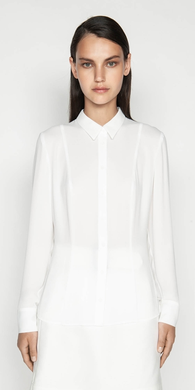 Sale  | Georgette Long Sleeve Shirt