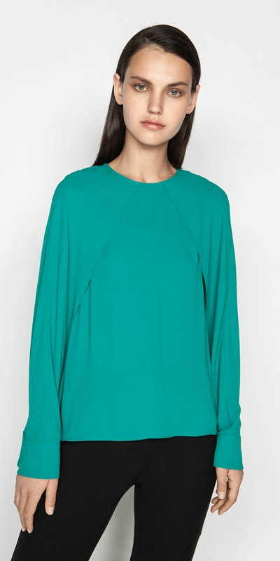 Tops  | Georgette Cape Sleeve Top