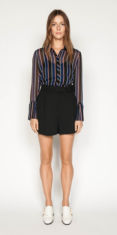 Shirts | Pleated Cuff Shirt