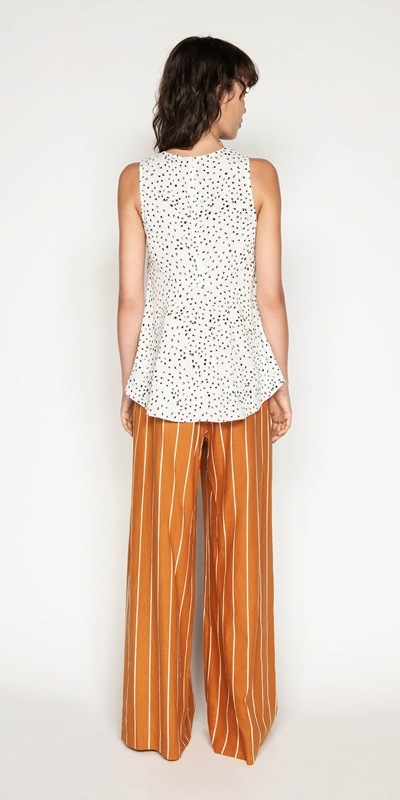Shirts | Abstract Animal Trapeze Top