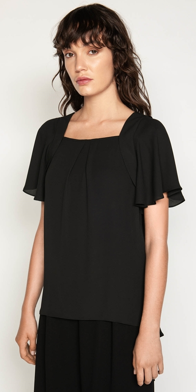 Shirts  | Georgette Tie Back Top
