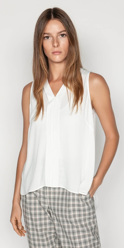 Shirts  | Georgette V-neck Top