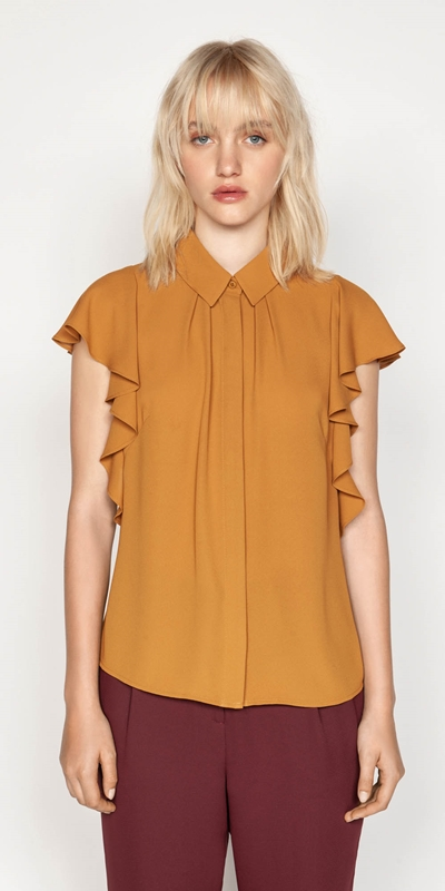 Tops | Cascade Frill Sleeve Shirt