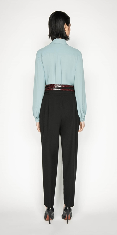 Accessories | Blouson Sleeve Shirt with Neck Tie