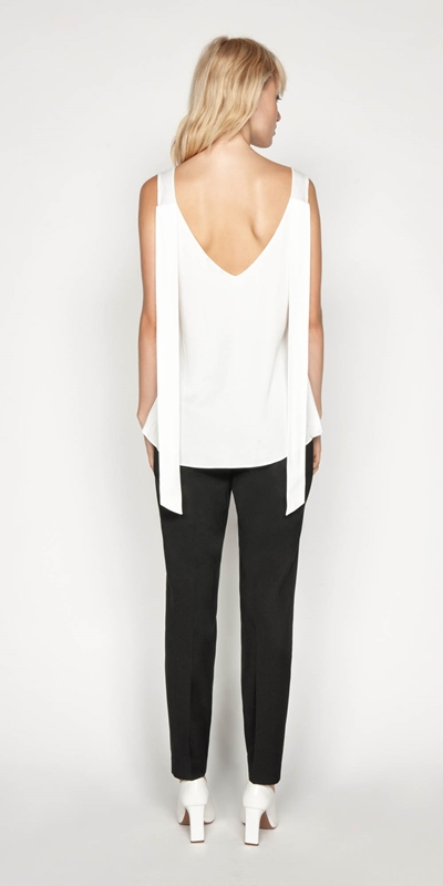 Shirts | Satin V-neck Top