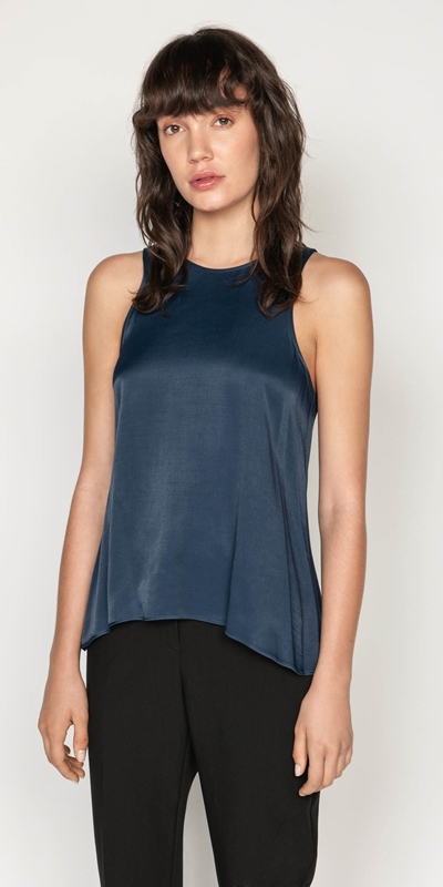 Wear to Work  | Satin Swing Top