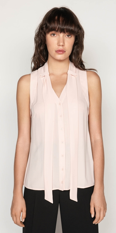 Shirts  | Georgette Tie Neck Top