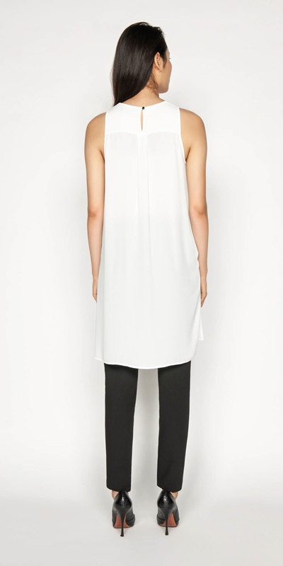 Tops | Stepped Hem Sleeveless Top