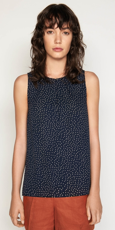 Tops  | Spot Georgette Top