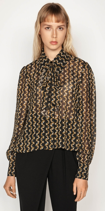 Sale  | Monogram Chain Blouse