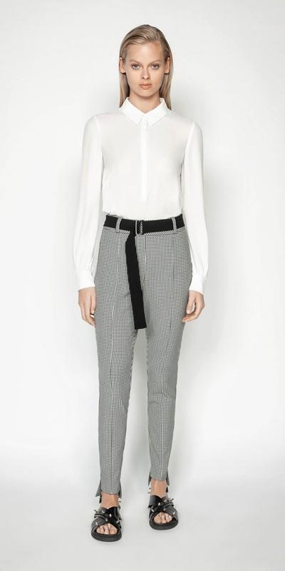 Wear to Work | Georgette Asymmetric Hem Shirt