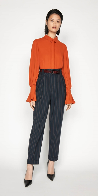 Wear to Work | Georgette Fluted Cuff Shirt