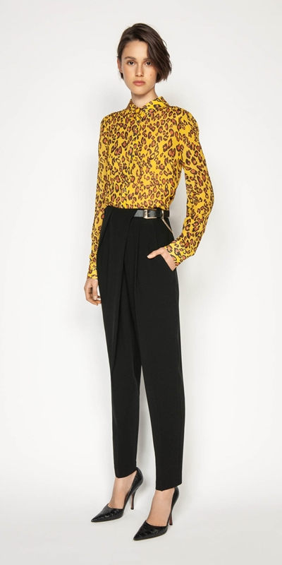 Wear to Work | Golden Leopard Shirt