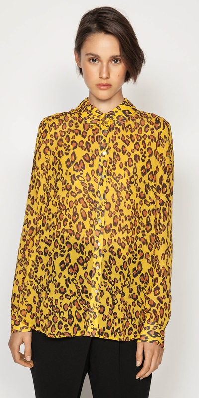 Shirts  | Golden Leopard Shirt