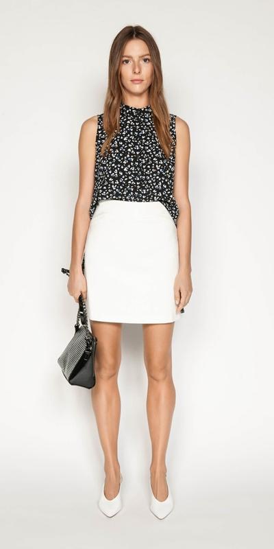Sale | Leopard Georgette Step Hem Shirt