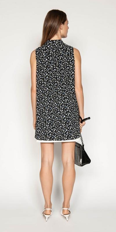 Shirts | Leopard Georgette Step Hem Shirt