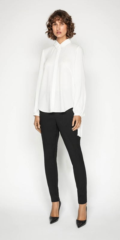 Wear to Work | Pleated Long Sleeve Blouse
