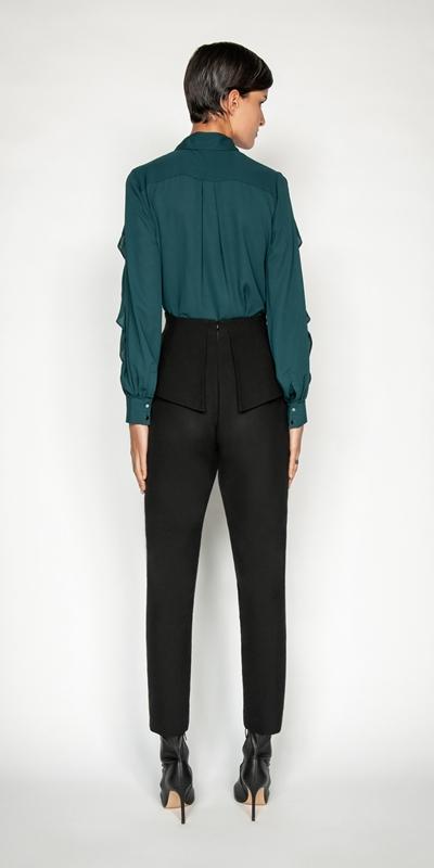 Shirts | Frilled Blouson Sleeve Shirt