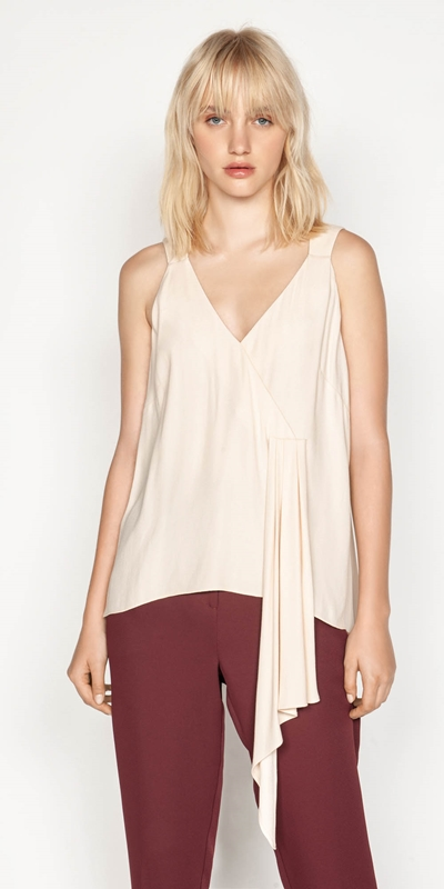 Sale  | Soft Satin Draped Cami