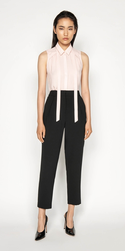Sale | Georgette Tie Neck Shirt