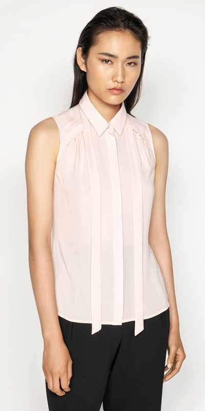 Tops  | Georgette Tie Neck Shirt