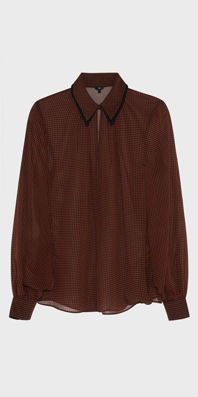 Tops | Houndstooth Shirt
