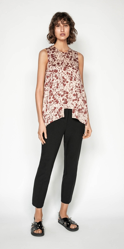 Tops | Tonal Floral Swing Top