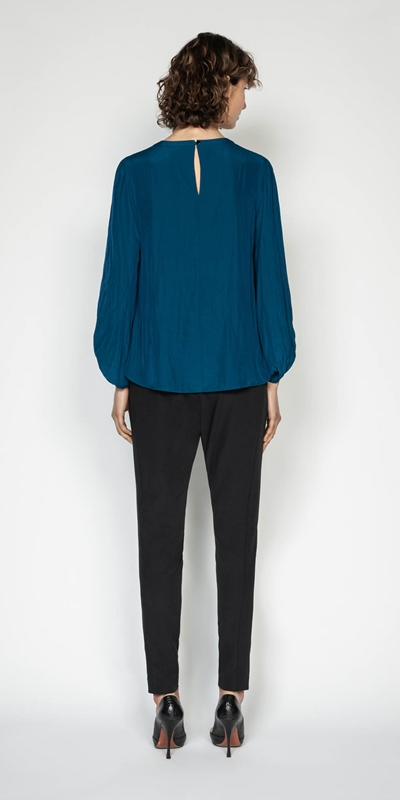 Shirts | Draped Keyhole Blouse