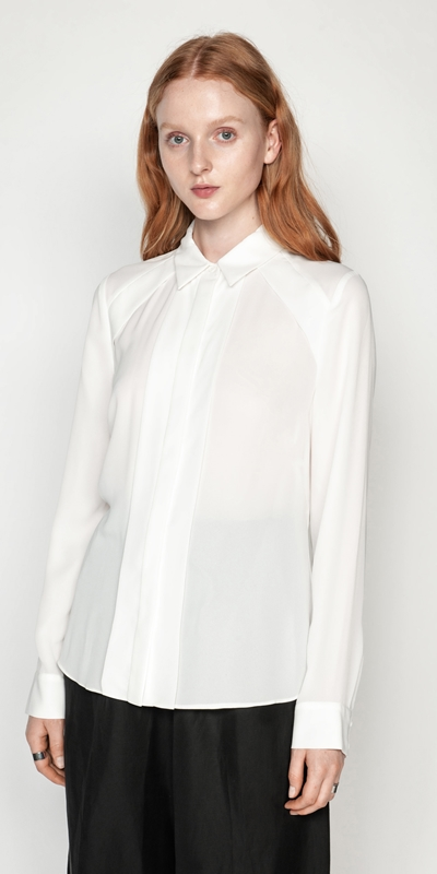 Tops  | Georgette Panel Shirt