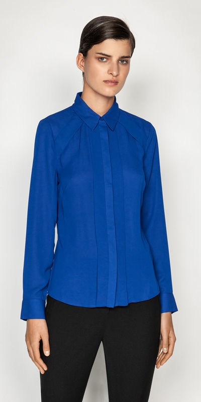 Tops and Shirts  | Georgette Panel Shirt