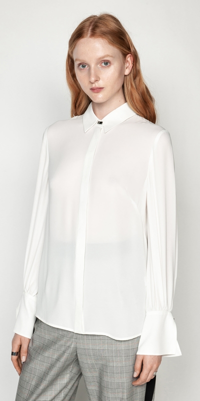 Tops  | Silky Wide Cuff Shirt