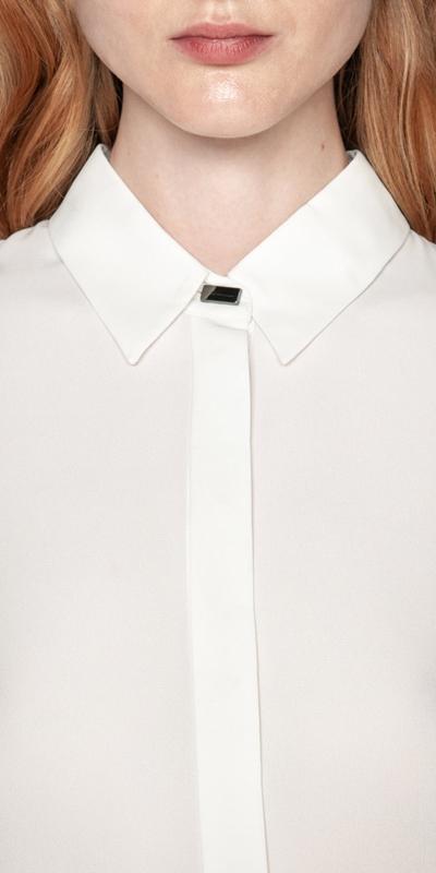 Shirts | Silky Wide Cuff Shirt