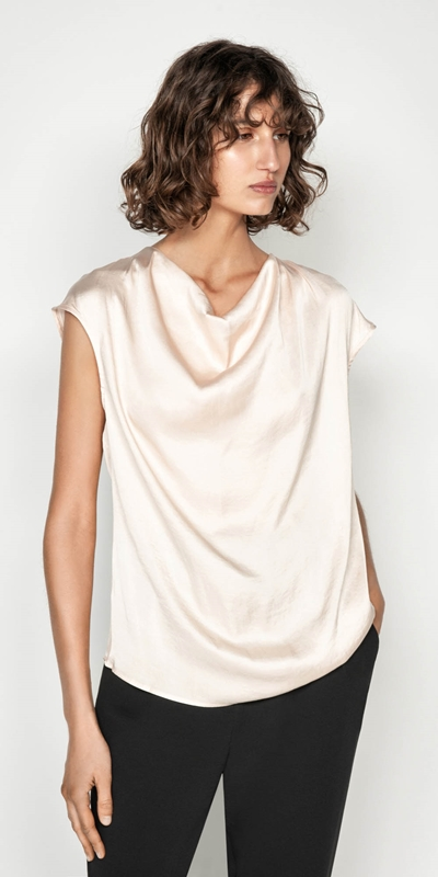 Sale  | Satin Cowl Neck Top