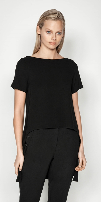 Tops  | Exaggerated Stepped Hem Top