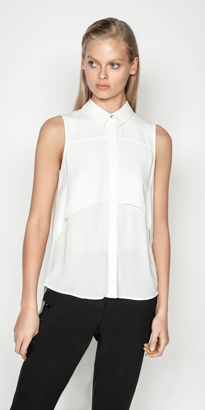 Tops  | Layered Shaped Hem Shirt