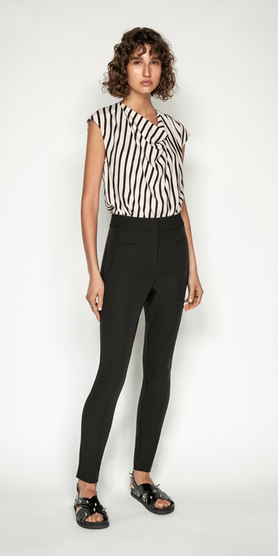 Wear to Work | Stripe Cowl Neck Top