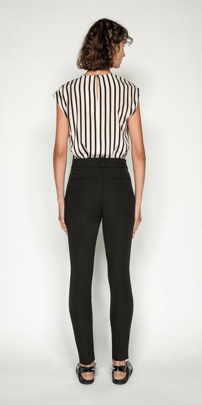 Shirts | Stripe Cowl Neck Top