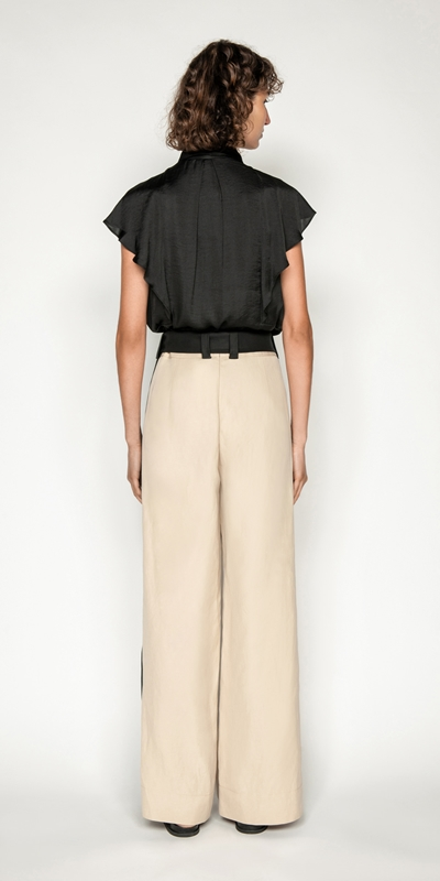 Shirts | Frilled Sleeve Button Front Top