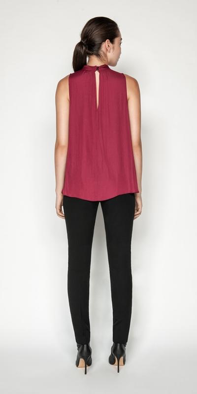 Shirts | Drapey Satin Swing Top