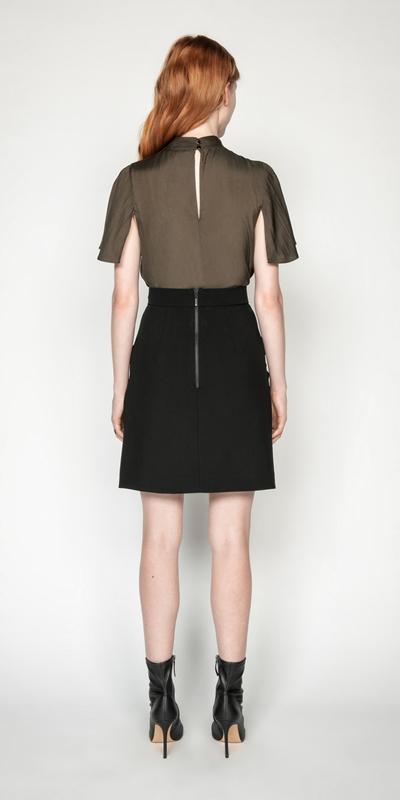 Shirts | Drapey Satin Cowl Neck Top
