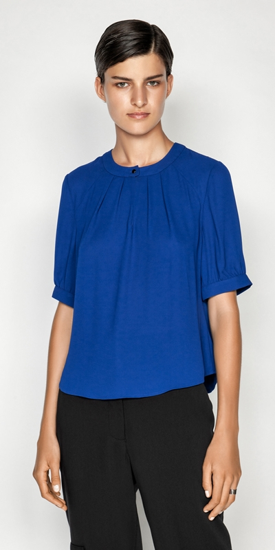 Tops  | Georgette Puff Sleeve Top
