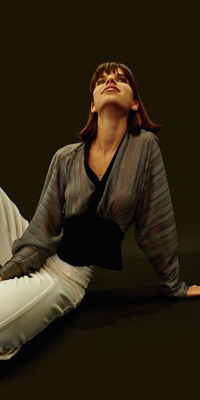 Shirts  | Herringbone Magyar Sleeve Top