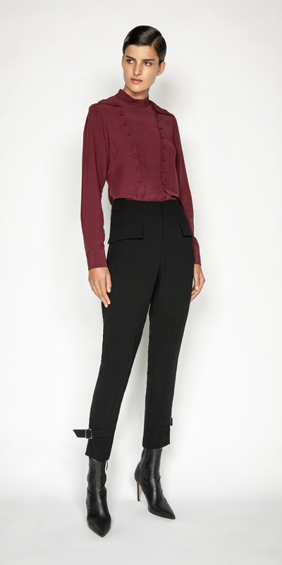 Tops and Shirts | Viscose Button Front Blouse