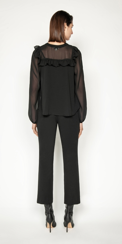 Tops and Shirts | Sheer Georgette Top