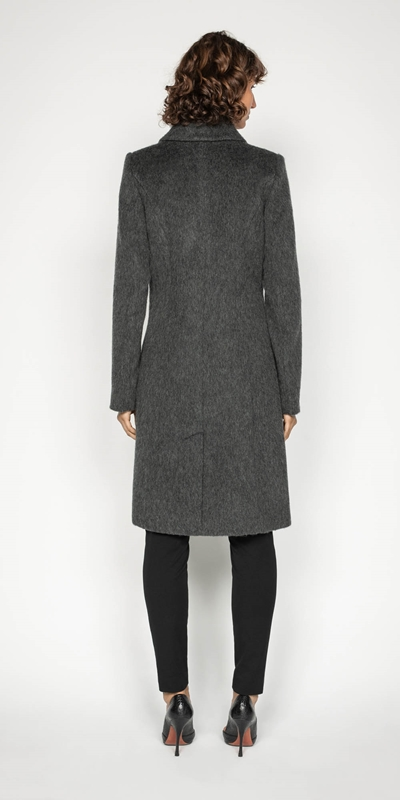 Coats | Charcoal Double Breasted Coat