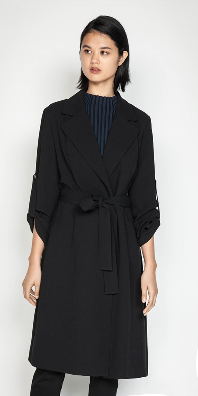 Wear to Work  | Crepe Trench Jacket